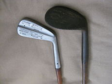 2 Hickory's (wooden shaft) golf clubs