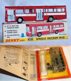 Dinky Toys -  Scale 1/55 - 1/66 - Single Decker Bus No. 283 and Dinky Kit Atlantean Bus No. 1018