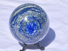 Large, polished Lapis Lazuli sphere - 75mm - 975gm