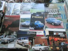 Car brochures (Ford USA/Mercury/Lincoln, 18x, 1979-1986)