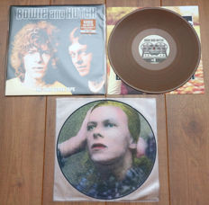 David Bowie- Lot of 2 limited edition lp's: Bowie And Hutch ‎– The 1969 Revox Tape (limited, numbered edition of 500 copies, nr. 47/500, bronze wax) & Hunky Dory limited edition picture disc