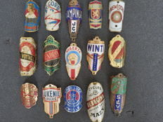 Collection of 15 Nice Bicycle Head Badges, including - Arizona, Record, Winti, Renold, Hendrik, Silva and others