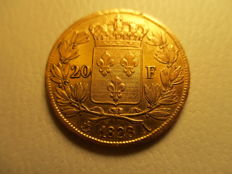 France - 20 Francs 1823 A - Charles X - Gold