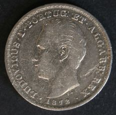 Portugal – 500 Réis (silver) – D. Luís I – 1872 – Lisbon – Unusual date – Extremely rare