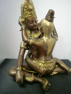 Very larg bronze Buddha Shakti - Nepal - late 20th century