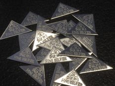USA - American certified bullion - 20 pieces 5 grain 999 silver bars pyramid