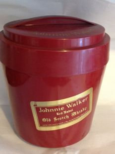 Ice bucket from the 1960s, with Johnnie Walker logo