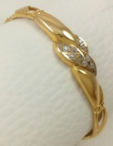 18 kt (750/1000) yellow gold semi-rigid bracelet Weight: 11.67 g