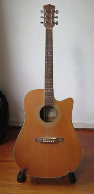 Acoustic western guitar Bruce Wallace Model ADC-90EQ - Korea