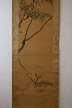 Painting on scroll signed by Tetsuzan – Japan – First half of 19th century