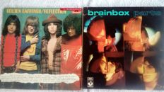 A little but very special lot of 2 very rare albums of famous Dutch groups, the Golden Earrings and Brainbox