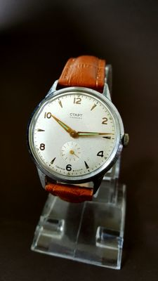 """CTAPT """"The Russian Omega"""" – men's watch – 1950s."""