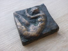 Unknown artist – cast paperweight with a nude