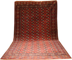 "Good handmade wool Tekke Turkmen carpet circa 1940 size 322cmx210cm (10'6""x6'9"")"