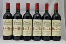 1989, Chateau de Saint-Pey, Saint-Emilion Grand Cru, France, 6 Bottles.