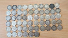 United Kingdom - 3 Pence 1873/1943 (56 pieces) - silver
