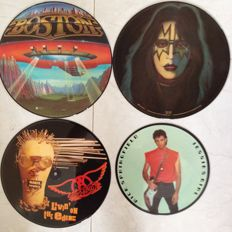 Aerosmith - Boston - Ace Frehley - Rick Springfield Picture discs in stunning condition.