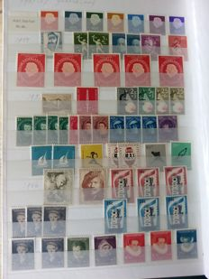 Netherlands 1907/1999 – Stock of postage stamps, separate and in sheet parts, in 2 stock books