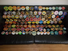 Large collection with 123 candy tins of various brands.