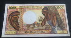 Chad - 5.000 Francs ND (1984-1991) - Pick 11