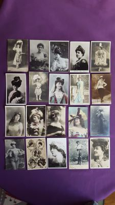 Novelty cards - Theatre, actresses, and others.