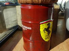 60 litres oil barrel seat with replica vintage Scuderia Ferrari theme