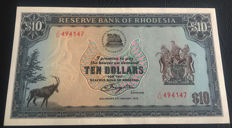 Rhodesia - 10 Dollars 1979 - Pick 41