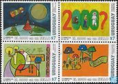 The year 2000 on a stamp