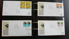 The Netherlands, 1964-1995, collection of deviant FDCs in three Lindner albums