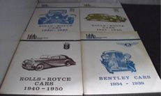 Rolls Royce and Bentley Brooklands Books from 1930 to 1950 and Silver Cloud Gold portfolio