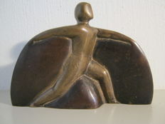 Solid bronze sculpture - numbered 126 of 250