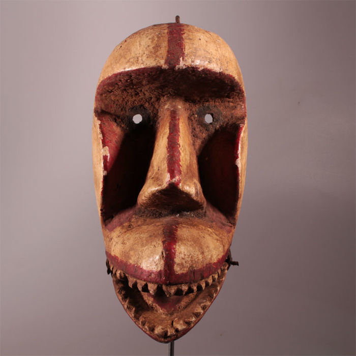 Crane mask with a hinged jaw - Ivory Coast