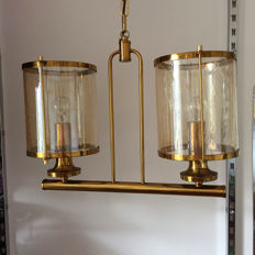Unknown designer – Blown glass and brass lamp