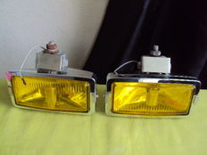 Pair of additional yellow iodine headlights ZED 1000 - 70s/80s