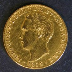 Portugal – 2,000 Réis in GOLD – 1865 – Luís I – Lisbon – NEARLY NEW
