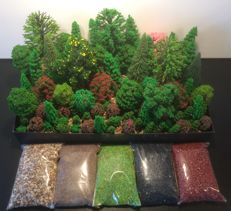 Noch/and others H0 - Scenery trees 100 pieces and 5 bags of litter