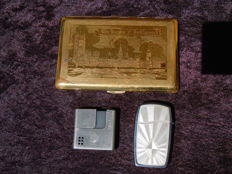 "Very RARE lighter ROWENTA ""Walter Scheel"" PDT RFA! - & Zippo Blu H.06! & case IGC brass 1975 ""Houses of Parliament""!!"