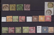 Württemberg – collection on stock cards