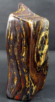 Multi-coloured, highly polished Tiger's Eye - 122 x 60 x 34 mm - 711gm