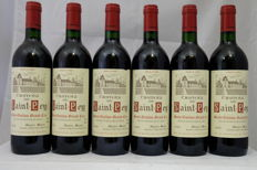 1989, Chateau Saint-Pey, Saint-Emilion Grand Cru, France, 6 Bottles.