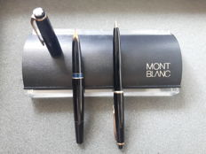 MONTBLANC duo set 22 - Montblanc fountain pen (14 k gold point) and Montblanc 36 pencil- in the original Montblanc case