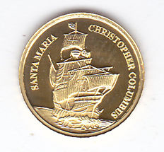 "Palau – 1 Dollar 2006 ""Santa Maria Christopher Columbus"" – gold"