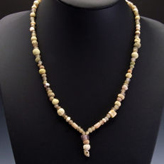 Necklace with Roman glass, faience and stone beads - 55 cm
