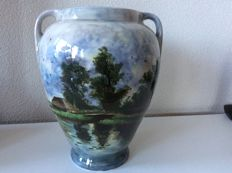 Plateel pottery Distel - Large vase with handles