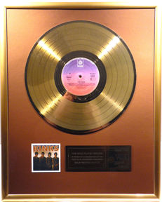 "The Kinks - The Kinks -  12"" german Pye record gold plated record by WWA Awards"