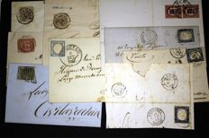 Ancient Italian States - Letters affixed with original period cancellations.