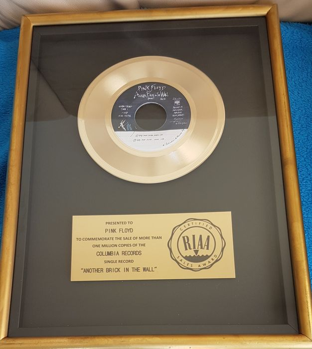 Pink Floyd - Another Brick in the Wall (part II) Official RIAA Award  Presented to Pink Floyd - Catawiki