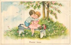 "Hannes Petersen - Lot of 20 Postcards - Johanna Helene Charlotte Schroder, signed her art work as "" Hannes Petersen"" (1885-1960). She was a German illustrator of children's books and postcards. Her theme were sweet drawings of children."