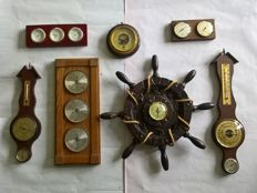 Large collection of Thermometers and Barometers with Hygrometers and Thermometers - 2nd half of last century