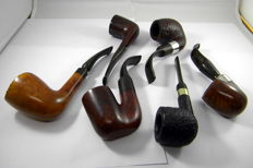 6 Italian Bruyère pipes 1960-1990